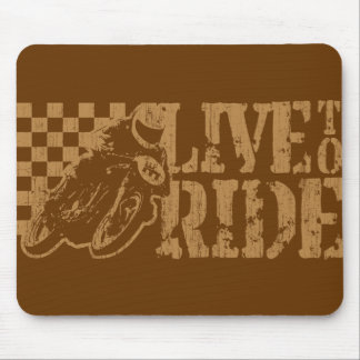 Live to Ride (vintage gold) Mouse Pad