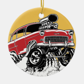 LIVE TO ROD! 55 Gasser Ceramic Ornament