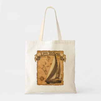 Live To Sail Canvas Bags