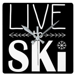 Live to Ski clock