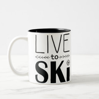 Live to Ski Mug