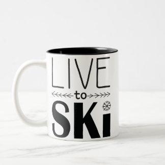 Live to Ski mug 2