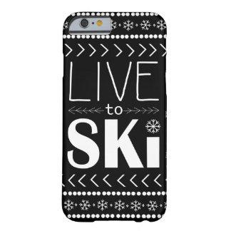 Live to Ski phone case - black
