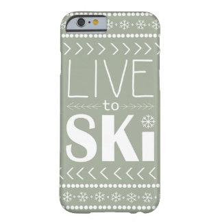 Live to Ski phone case - olive