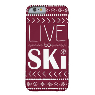 Live to Ski phone case - red
