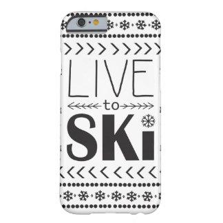 Live to Ski phone case - white