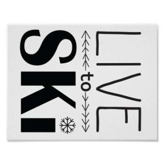 Live to Ski poster
