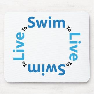 Live to Swim Mousepad