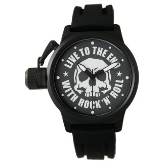LIVE TO THE END WITH ROCK 'N' ROLL (K) WRISTWATCHES