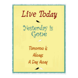 Live Today Postcard