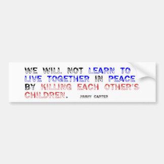 Live Together in Peace Bumper Sticker