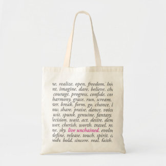 Live Unchained Tote Tote Bag