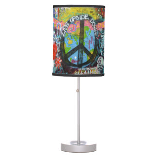 Live Upside Down Peace Sign Wall Table Lamp