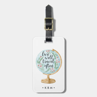 Live Well, Travel Often Luggage Tag