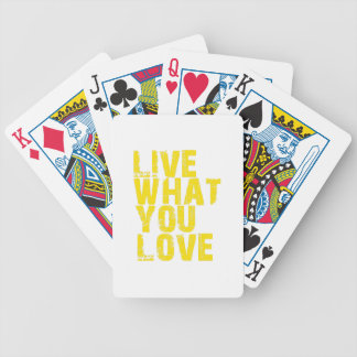 live what you love bicycle playing cards