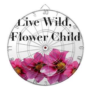 Live Wild Flower Child Dartboard