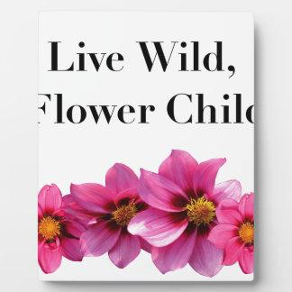 Live Wild Flower Child Plaque