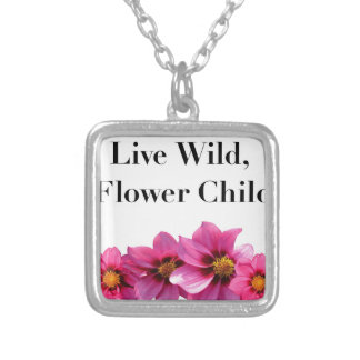 Live Wild Flower Child Silver Plated Necklace