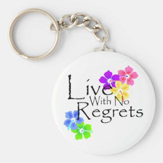 Live with no Regrets Basic Round Button Keychain