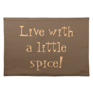 Live With Spice cotton placemat