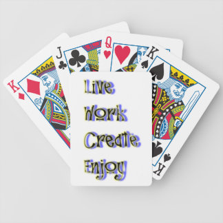 live work create enjoy bicycle playing cards