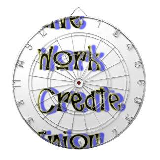 live work create enjoy dartboard