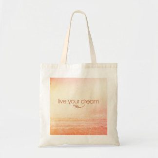 Live Your Dream Canvas Bags