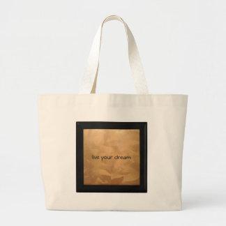 Live Your Dream Copper Metallic Jumbo Tote Bag