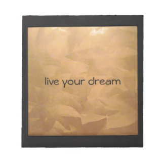 Live Your Dream Copper Metallic Notepad