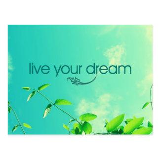 Live Your Dream. Vibrant Sky Postcard