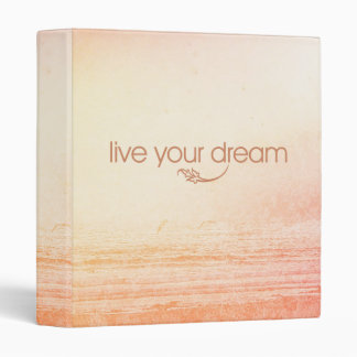 Live Your Dream Vinyl Binder