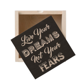 Live Your Dreams custom color keepsake box