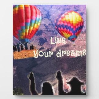 Live your dreams plaque