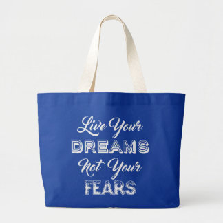 Live Your Dreams tote bags