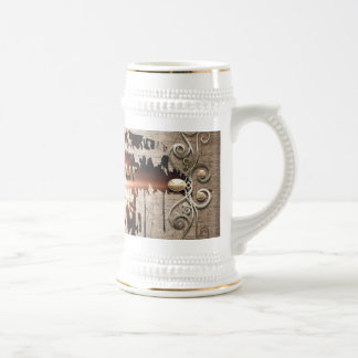 Live your life 18 oz beer stein