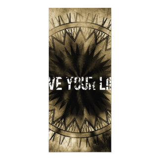 Live your life 4x9.25 paper invitation card