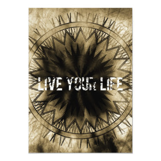Live your life 5x7 paper invitation card