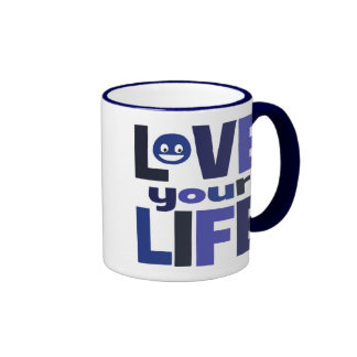 Live Your Life, Love Your Life Blue Mugs