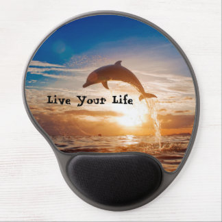 Live Your Life Motivation Gel Mouse Pad