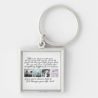 Live your life, no regrets keychain