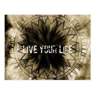Live your life postcard