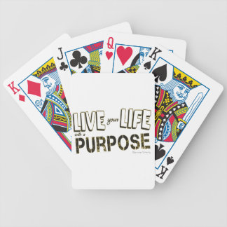 Live your Life with a Purpose Bicycle Playing Cards