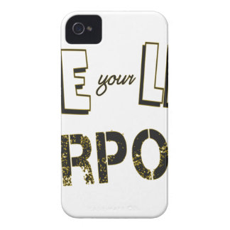 Live your Life with a Purpose iPhone 4 Covers