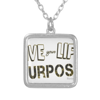 Live your Life with a Purpose Silver Plated Necklace
