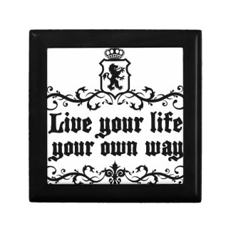 Live Your Life Your Own Way Medieval quote Gift Box