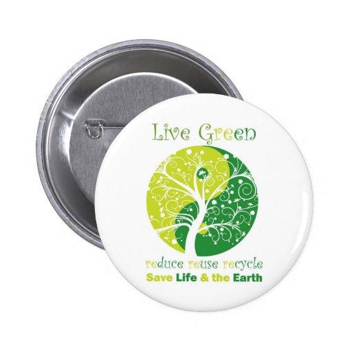 LiveGreen - Ying Yang 1 Pin