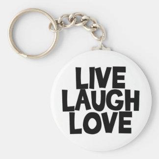 livelaughlove basic round button keychain