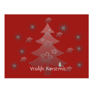 Lively Christmas red Christmas card