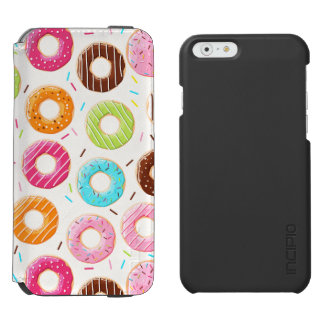 Lively colorful donuts sprinkles toppings pattern incipio watson™ iPhone 6 wallet case