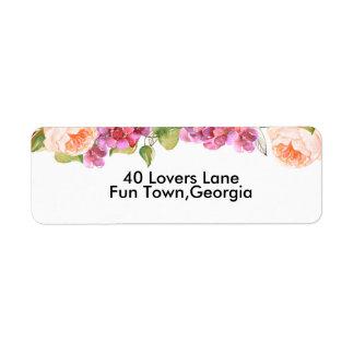 Lively Florals Return Address Labels